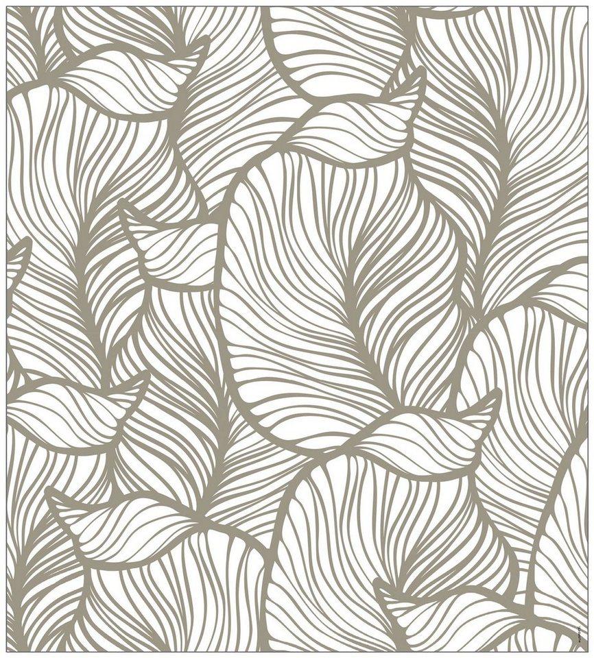 myspotti fensterfolie myspotti look leaves beige 90 x 100 cm statisch haftend online kaufen. Black Bedroom Furniture Sets. Home Design Ideas