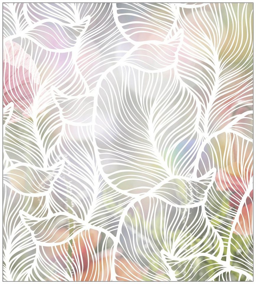 myspotti fensterfolie myspotti look leaves white 90 x 100 cm statisch haftend online kaufen. Black Bedroom Furniture Sets. Home Design Ideas