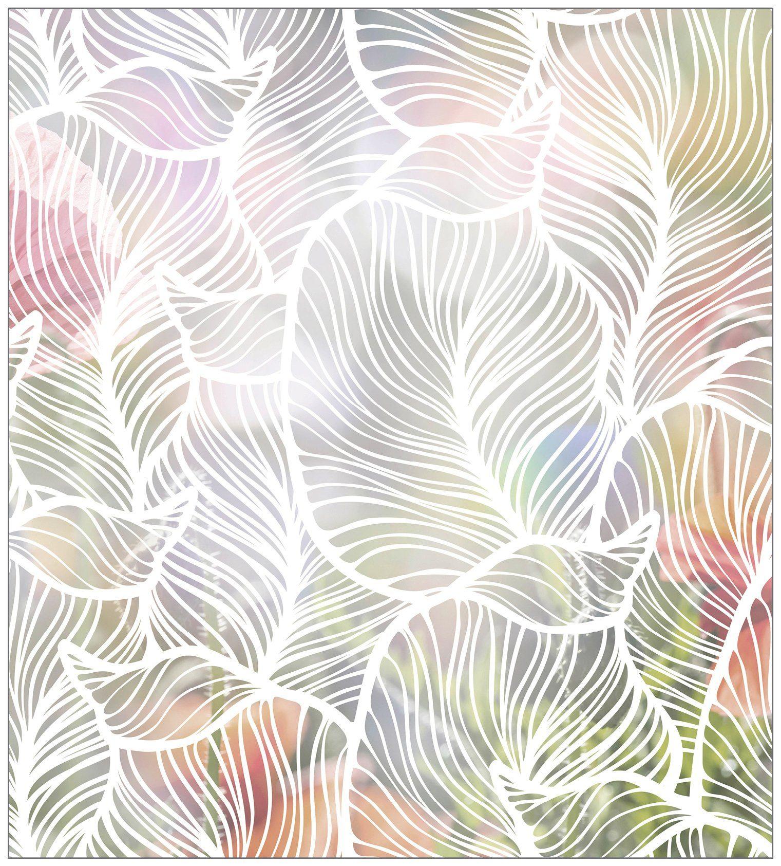 MYSPOTTI Fensterfolie »mySPOTTI look Leaves white«, 90 x 100 cm, statisch haftend