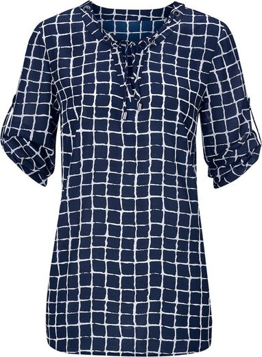 Classic Inspirations Blouse With Trendy Check Design Interpretiertem