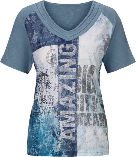 Classic Inspirationen Shirt mit trendigem Druckmix