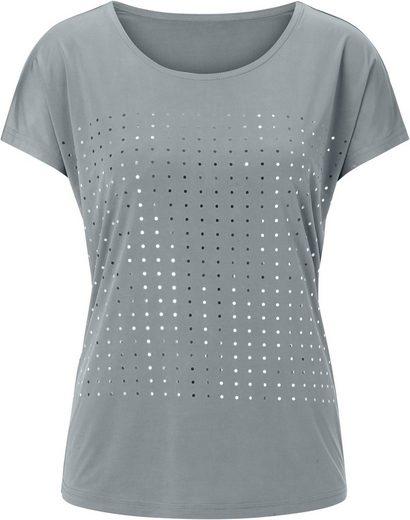 Classic Inspirationen Shirt mit silberfarbigem Tupfen-Druck
