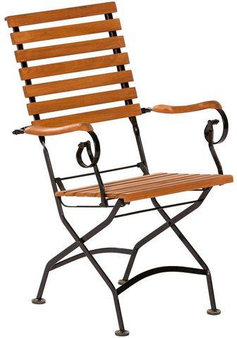 MERXX Sodo kėdė Eukalyptusholz klappbar brau...