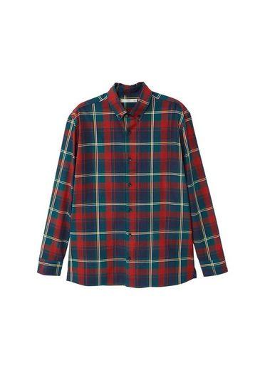 MANGO MAN Regular Fit-Hemd aus Baumwolle mit Karomuster