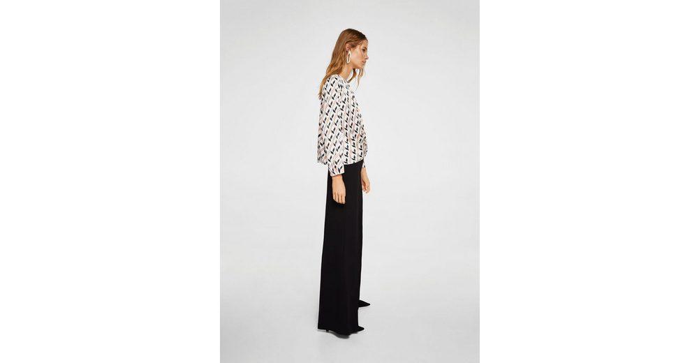 MANGO Gemusterte Bluse mit Knoten Spielraum Mode-Stil Gl2izDMTsi