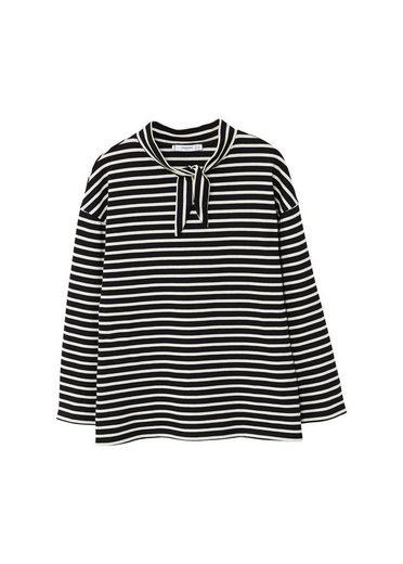 MANGO T-Shirt mit Schleife am Kragen