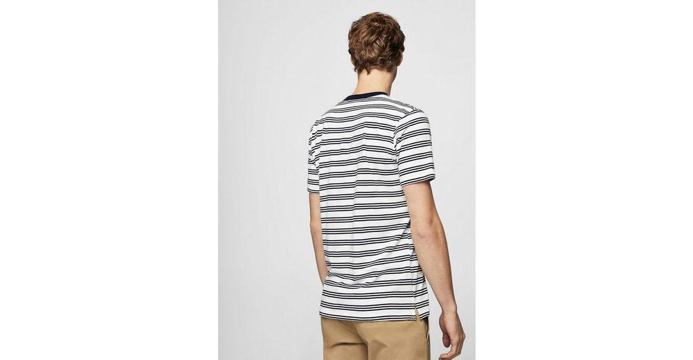MANGO MAN Gestreiftes Baumwoll-Shirt Kühl Einkaufen bUQBhmrois