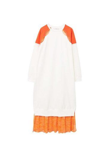 MANGO Kleid mit Spitzeneinsätzen
