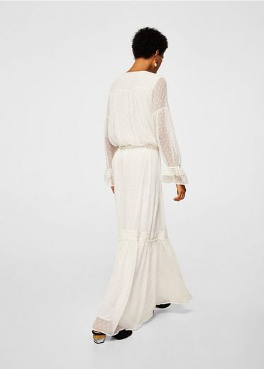 MANGO Langes Plumetis-Kleid