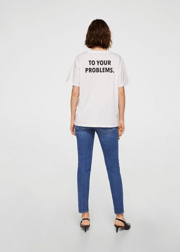 Mango T-shirt With Text Imprint