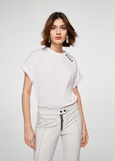 MANGO T-Shirt mit Perlenverzierung