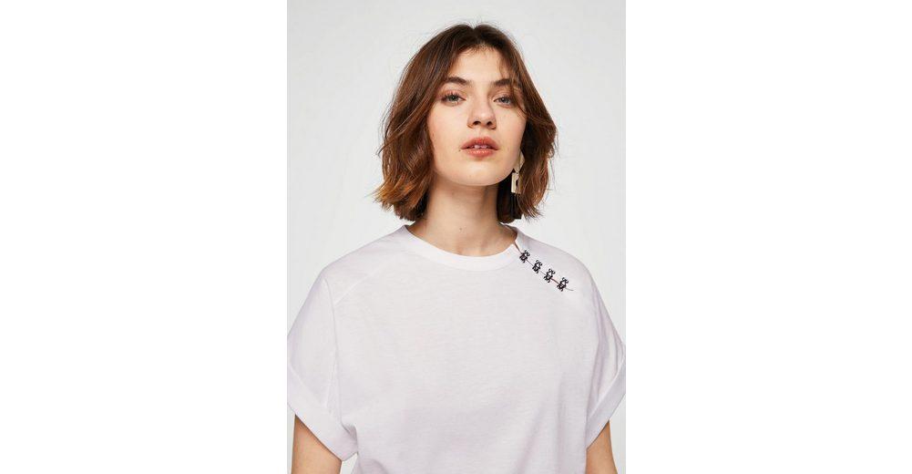 Spielraum Wiki MANGO T-Shirt mit Perlenverzierung Manchester Verkauf Online GmAE7h8F