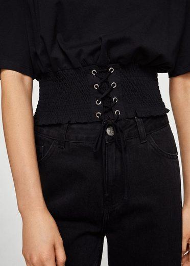 MANGO T-Shirt mit Korsett-Detail