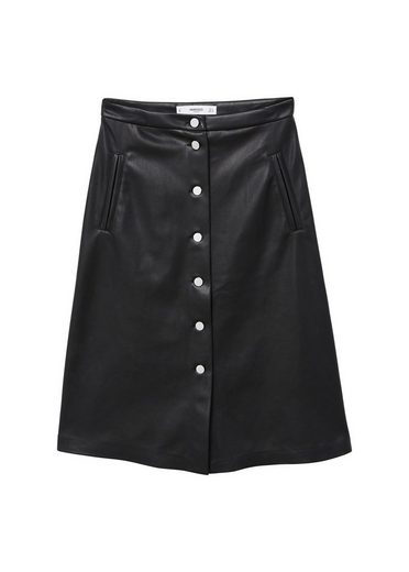 Mango Midi Skirt With Button
