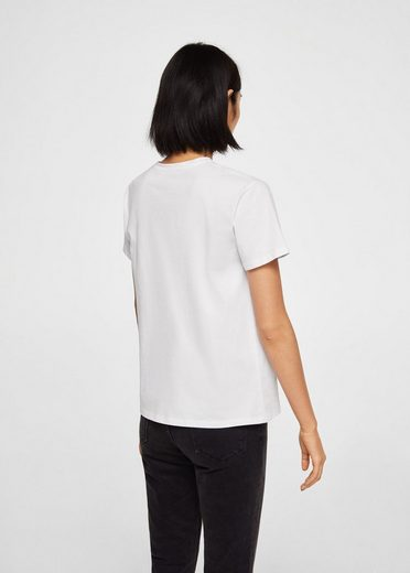 MANGO T-Shirt mit Textaufdruck