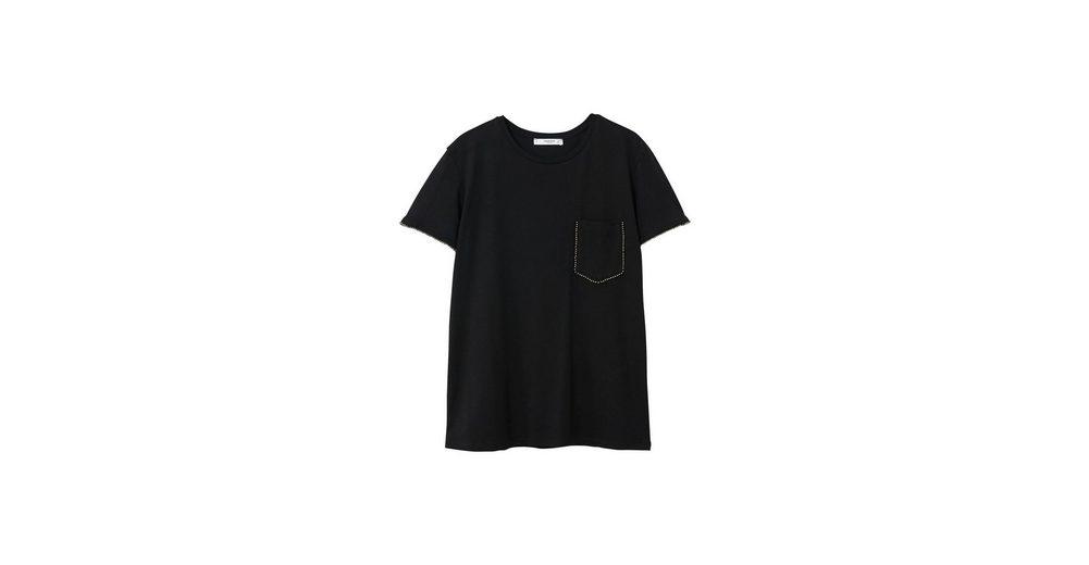 Kaufen Sie Günstig Online Preis MANGO T-Shirt mit Nietenbesatz Authentisch Shop Für Günstige Online mNHKH