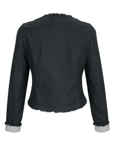 Alba Moda Jean Jacket With Fringe Details