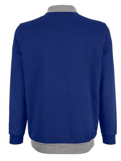 Roger Kent Sweatshirt mit Kontraststreifen