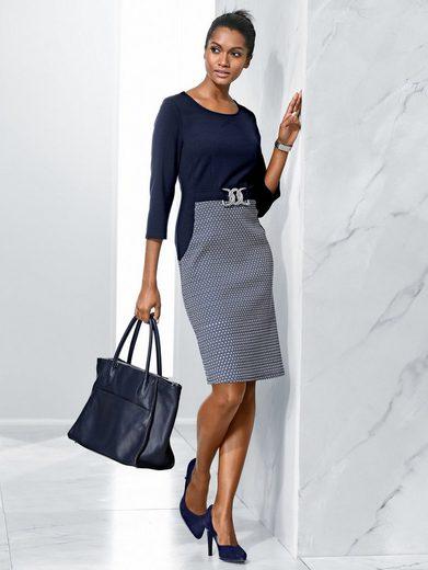 Alba Moda Kleid mit Rockteil im Minimal-Dessin
