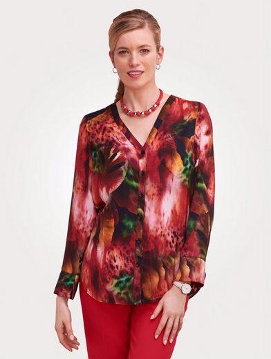 Mona Bluse mit farbbrillantem Blumendessin
