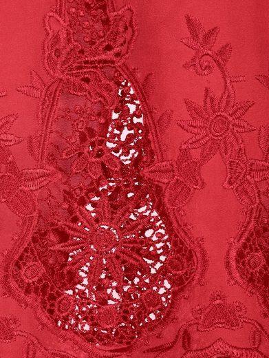 Alba Moda Blusenshirt mit edlem Spitzensaum