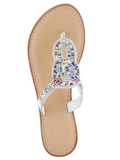 Liva Loop Flop With Colorful Decorative Pearls