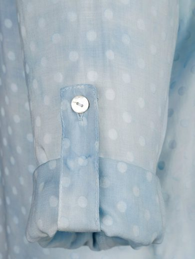 Alba Moda Druckbluse in modischen Tupfen-Dessin mit Farbverlauf