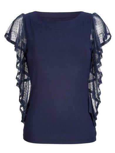 Alba Moda Shirt mit dekorativem Rüschenbesatz