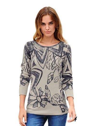 Alba Moda Pullover mit ALBA MODA exklusivem Grafikdessin