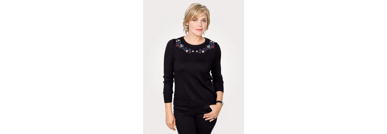 Blumenstickerei mit mit mit Pullover Blumenstickerei Mona Mona Blumenstickerei Mona Pullover Pullover xPIqw7gZy