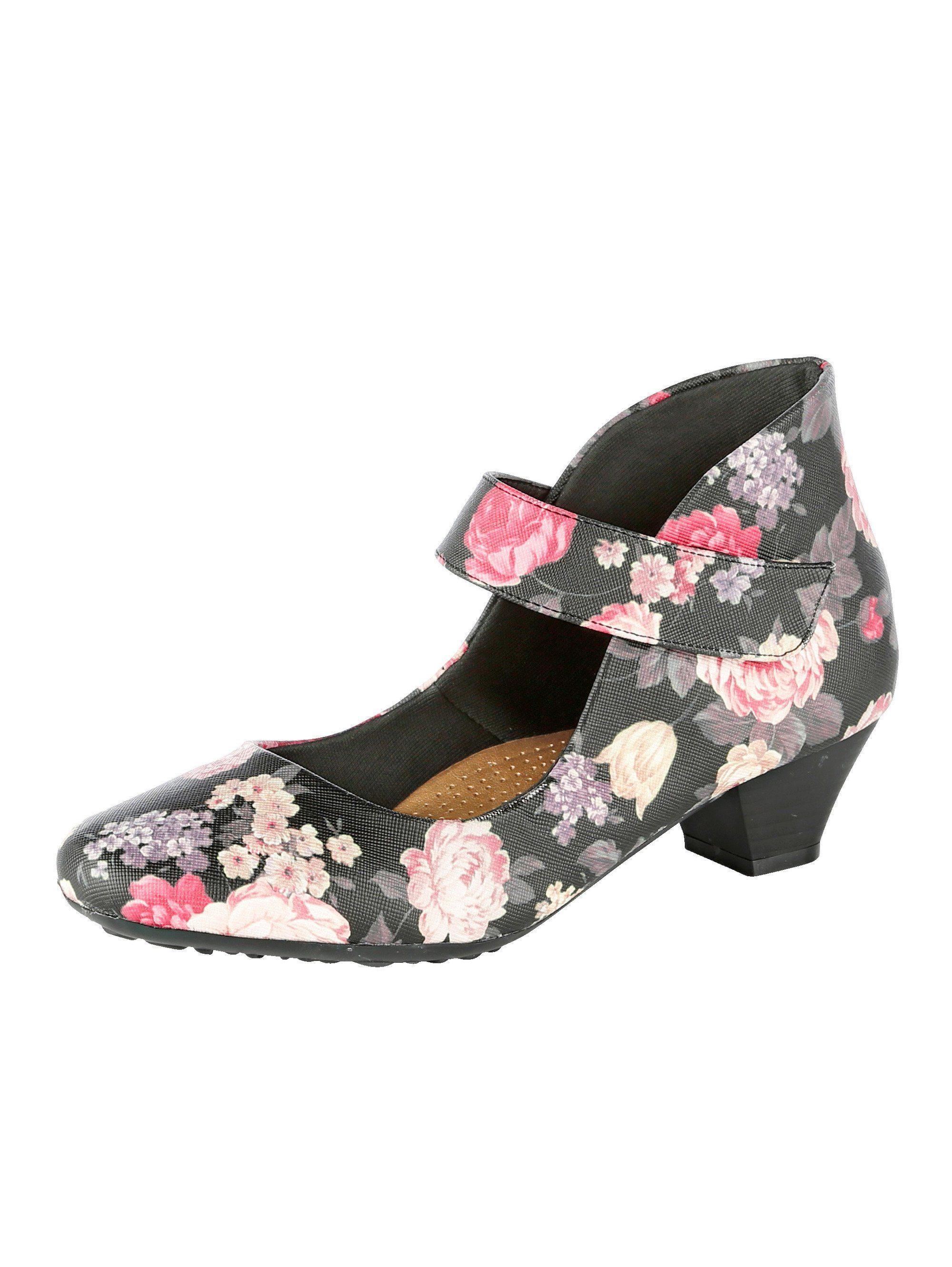 Mae&Mathilda Spangenpumps in elegantem Look kaufen  schwarz#ft5_slash#floral