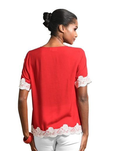 Alba Moda Blouses Shirt With Lace And Braid