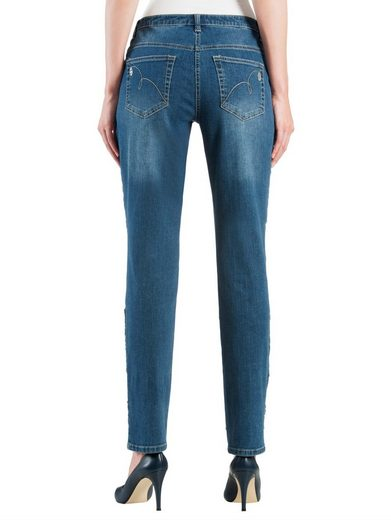 Alba Moda Jeans With Sequins In The Front Pants