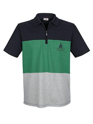 Roger Kent Poloshirt mit eingesetzten Streifen