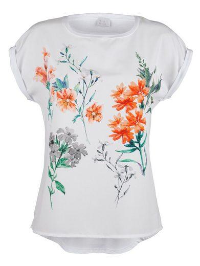 Alba Moda Druckshirt mit Blumendruck im Vorderteil