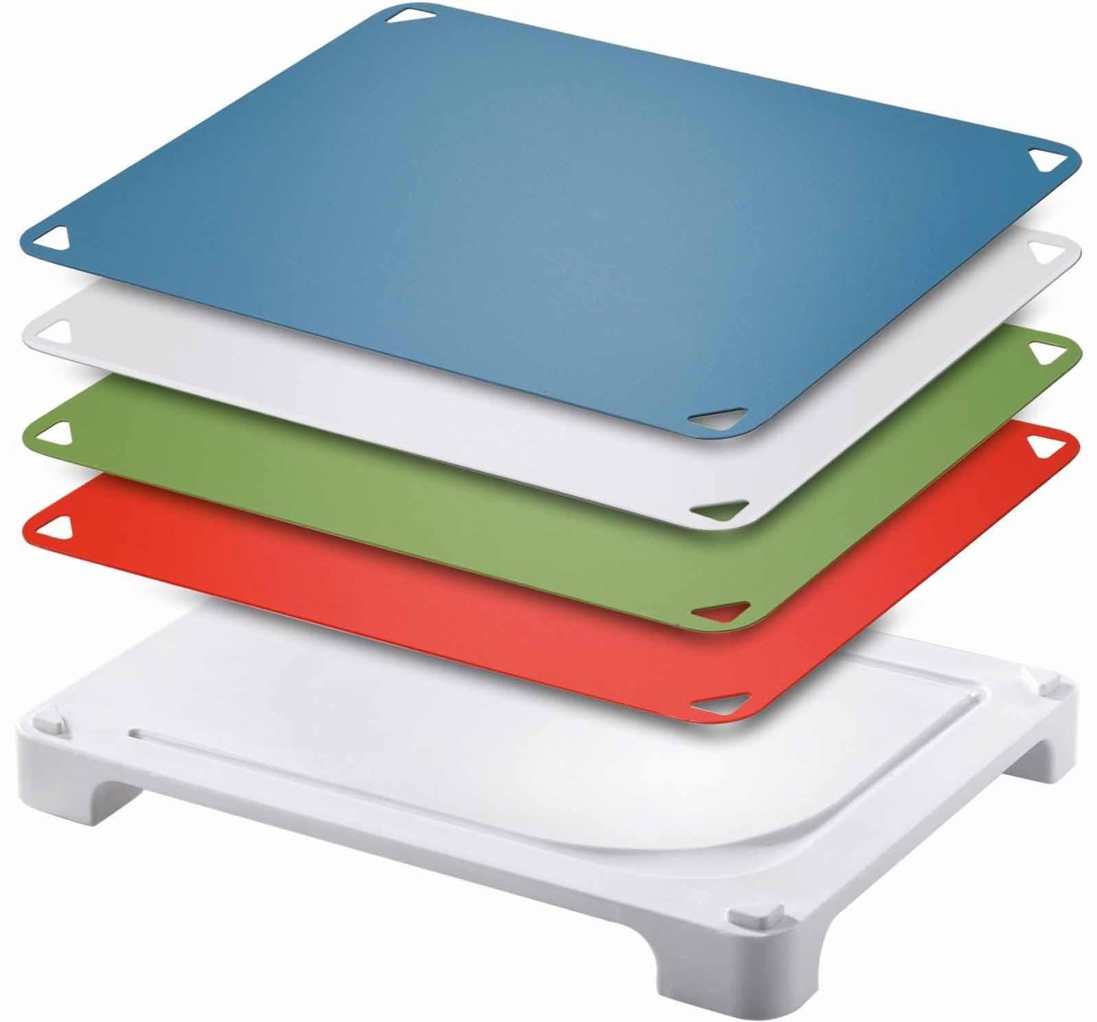 Leifheit Schneidbrett, mit 4 auswechselbaren Schneidauflagen, »Vario Board«