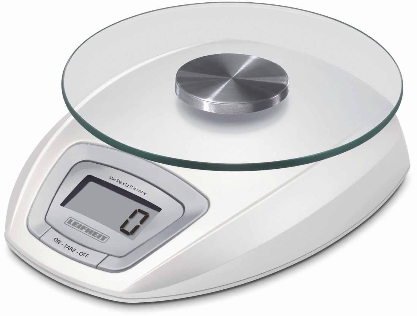 Leifheit Küchenwaage, mit LED Anzeige, Wiegeteller abnehmbar