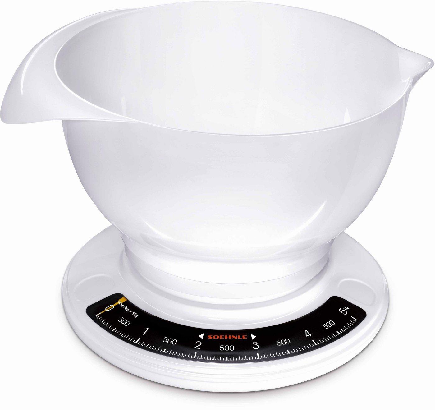Soehnle Analoge Küchenwaage, mit großer Rührschüssel, »Culina Pro«