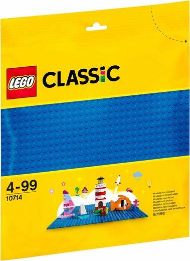 LEGO® Konstruktionsspielsteine »Blaue Bauplatte (10714), LEGO® Classic«, (1 St)