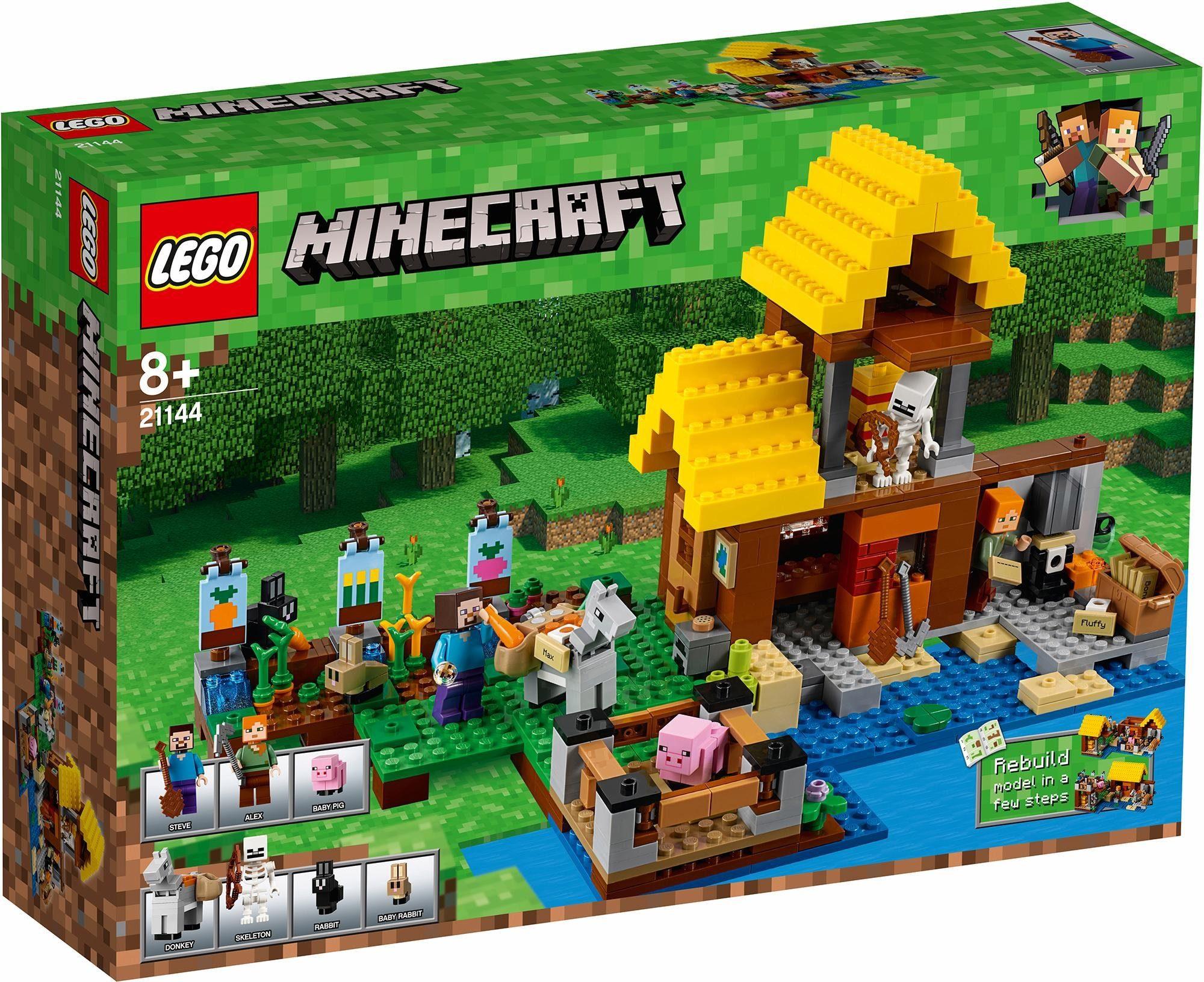 LEGO® Konstruktionsspielsteine »Farmhäuschen (21144), LEGO® Minecraft«, (549 tlg)