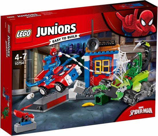 LEGO® Konstruktionsspielsteine »Großes Kräftemessen von Spider-Man und Skorpion (10754), LEGO® Juniors«, (125 St)
