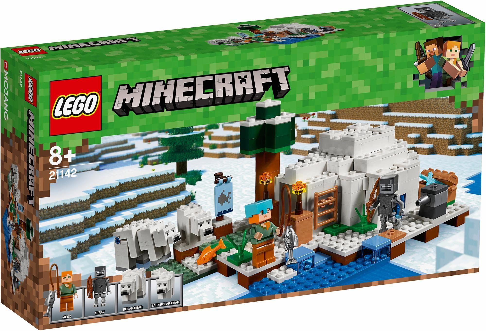 LEGO® Konstruktionsspielsteine »Eisiglu (21142), LEGO® Minecraft«, (278 tlg)
