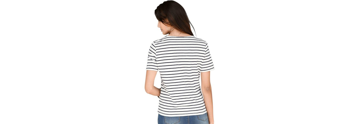 Classic Inspirationen Shirt mit Pailletten-Schriftzug Verkauf Visum Zahlung WmSFID7P