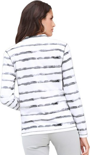 Classic Inspirationen Shirtjacke rundum im grafischen Streifendruck