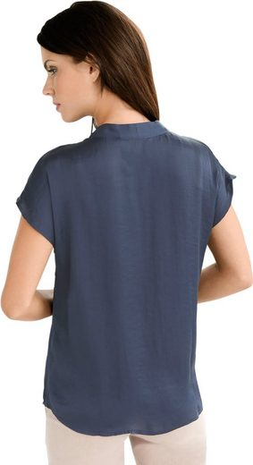 Fair Lady Blouse Made Of Shiny, Finely Wrinkled Material