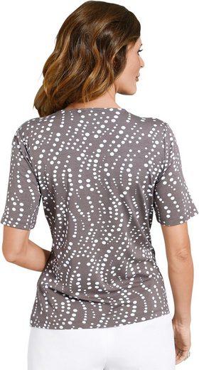 Fair Lady Shirt mit unterschiedlich großen Tupfen