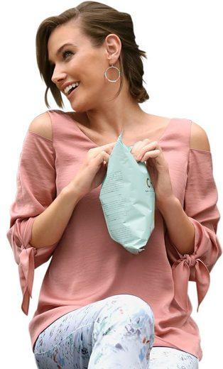 Fair Lady Bluse aus feiner Chiffon-Satin-Qualität