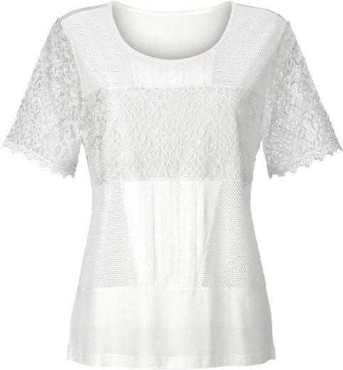 Lady Shirt vorne aus mehreren Spitzenarten gemacht