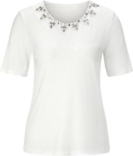Fair Lady Shirt mit aufgenähten Ziersteine