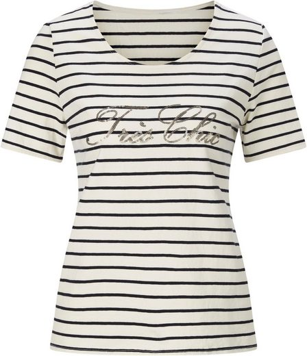 Classic Inspirationen Shirt mit Pailletten-Schriftzug